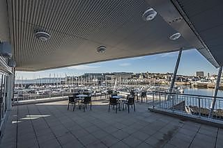 The view from the terrace over towards the Barbican
