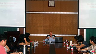 Gives a lecture at Fuzhou University, China as part of an AHRC funded conference and research networking project.