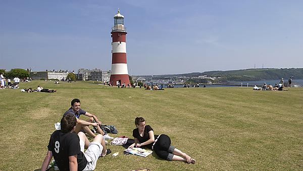 Students on Plymouth Hoe