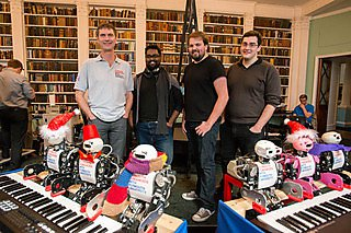 The team of engineers and robots from the Centre for Robotics and Neural Systems at Plymouth University