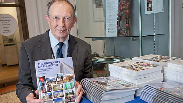 "The launch of the new chapter of the book ""The Making of the University of Plymouth"" written by University of Plymouth Historian Dr Alston Kennerley."