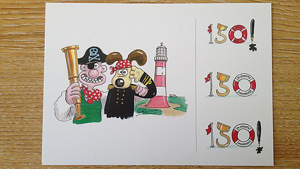 Wallace and Gromit postcard