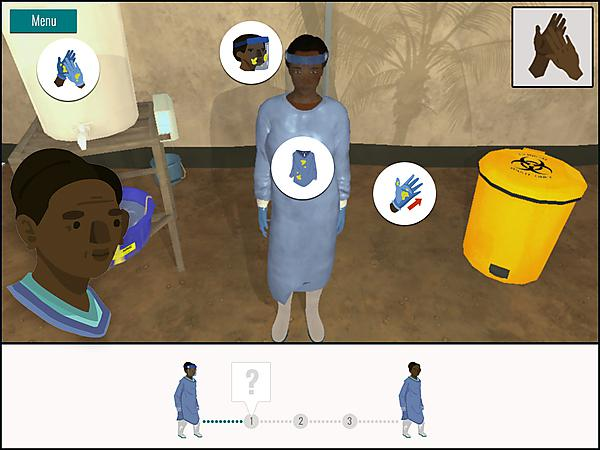 A screen shot from the Masanga Mentor Ebola Initiative's immersive training programme