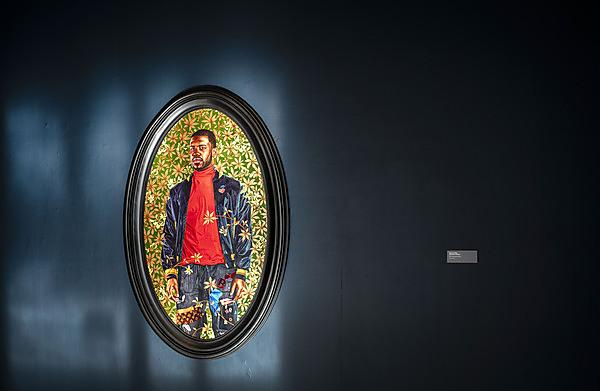 <p>  'Alexander Cassatt', 2017, Kehinde Wiley<br>Oil on wood panel<br>152.4 x 85.7cm<br>(60 x 33 3/4in)<br><br>Kehinde Wiley: Ship of Fools, The Levinsky Gallery, University of Plymouth | 29 September 2020-24 January 2021<br><br>Curated by The Box in partnership with The Arts Institute and Royal Museums Greenwich.  <br></p>