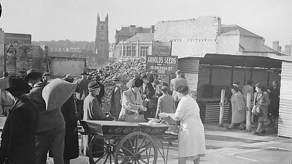 <p>Shopping in Post-Blitz Plymouth. Image credit: Imperial War Museum</p>