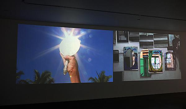 Mohini Chandra, Paradise Lost: Kikau Street/Forty Ships (moving image) installed in HEAT, Third Oceanic Performance Biennale, Te Uru Waitakere Contemporary Gallery, Auckland, New Zealand, 2017. Supported by Asialink, Arts NSW and the Australia Council.