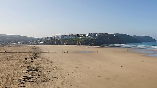 <p>Perranporth beach</p>