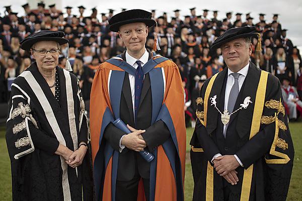 <p>Professor Judith Petts CBE, Professor Chris Whitty and the Lord Jonathan Kestenbaum</p>