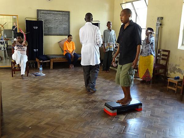 Patients at a rehabilitation centre in Uganda