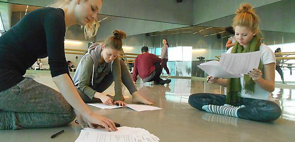 Data collection with dance students