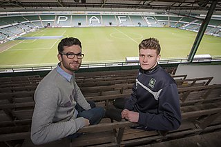 Sebastian Readhead with football player Liam Knowles