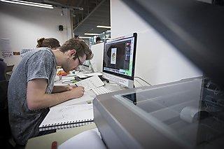 Apple macs in illustration studio