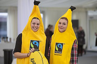 Fairtrade banana mascots