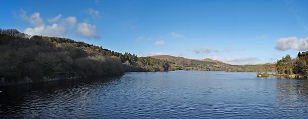 View over Dartmoor with Burrator Reservoir