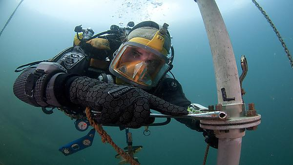 Diver Working Underwater