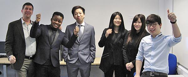 Students triumph in global business contest