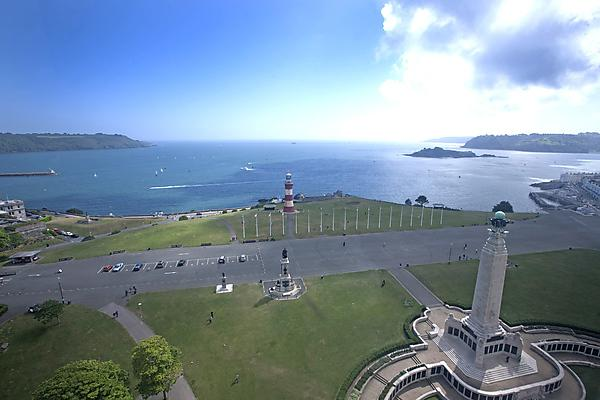 View of Plymouth Hoe from the Plymouth Eye