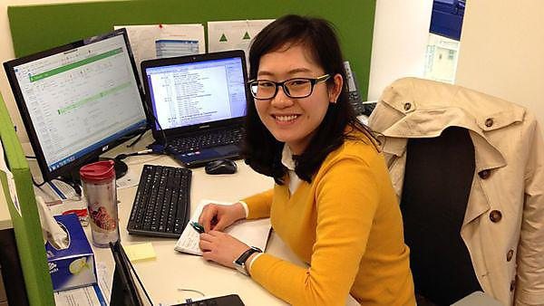 Tania Xin Tang at work in her office