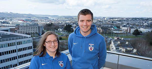 Devon FA Intern with Howard Shaddick (Devon FA representative)