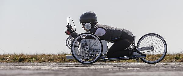 Record attempt handcycle undergoes first tests