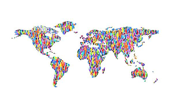 World population map [shutterstock_28821148]