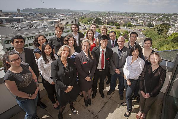 Santander Scholarships 2015 winners and organisers