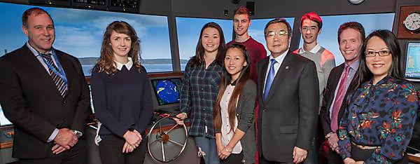 University hosts leading maritime figure
