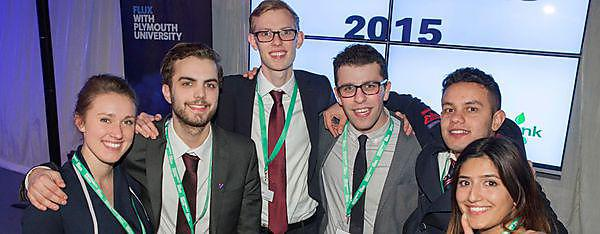 Business students secure university FLUX title