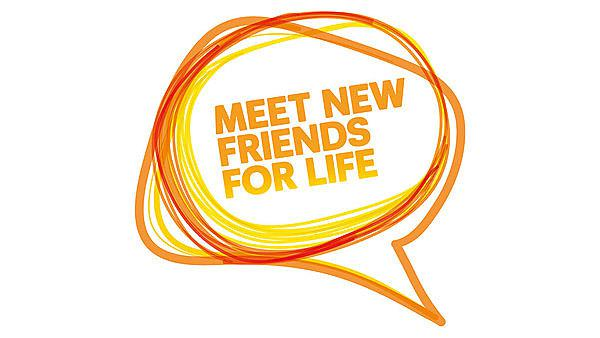 Meet new friends for life banner