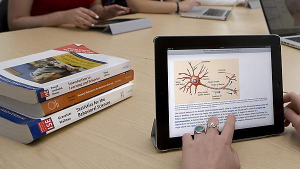 Psychology students provided books in digital form