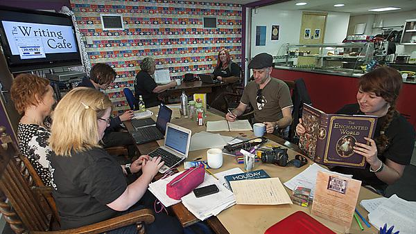 24 hours of writing at the Writing Cafe