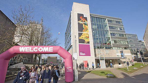 Plymouth University campus on an open day