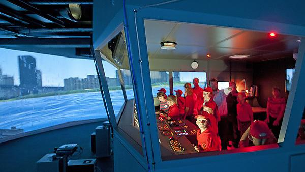 Chernobyl Children's Life Line visit to the University's ship simulator