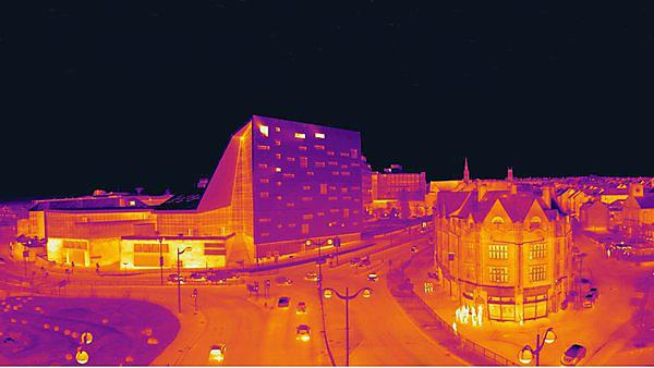 Thermal image of Plymouth taken by Matthew Fox, Environmental Building Group - Special Commendation in Visions of Sustainability 2015