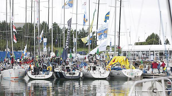 Rolex Fastnet Race village in Plymouth