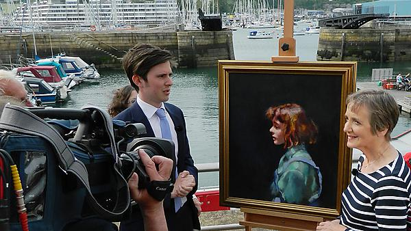 Lawrence Hendra filming the Antiques Roadshow in Plymouth
