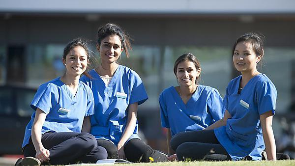 Plymouth Dental students who are travelling to Peru to take part in a dental elective. (l-r) Sarah Khalil, Sapna Patel, Amereeta Aytain and Juni Gurung