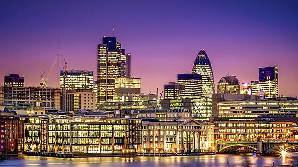 Financial District. City of London - this view includes Tower 42 Ghekin, Willis Building and Stock Exchange Tower [shutterstock_258129938]