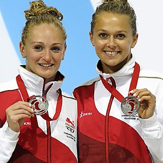 Olympic synchronised divers