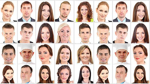 Collage of many different human faces. Courtesy of Shutterstock