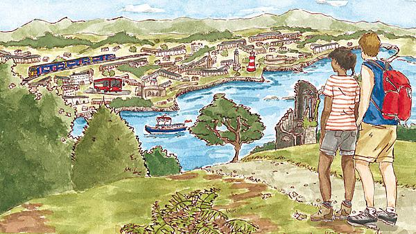Moor to Sea without the Car, book illustration