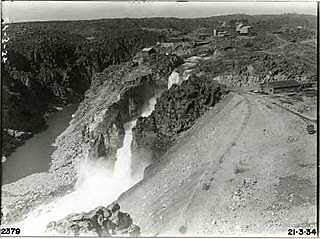 An image showing the effects of the first flood on 10 January, 1934