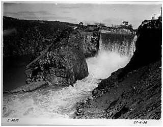The final recorded event in March 1936 left a sizeable gorge around the dam