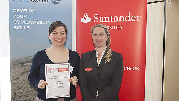 Emma Parker, University Relationship Branch Manager Santander UK